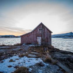 Landschap Sommarøy Noorwegen