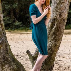Jen Somerfield in a green dress