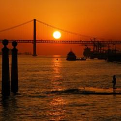 Avondrood Taag Lissabon