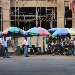 Umbrella's in Yangon