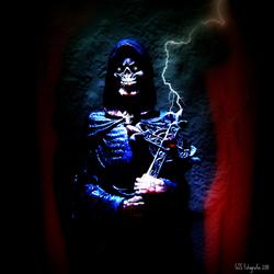 lightning skull