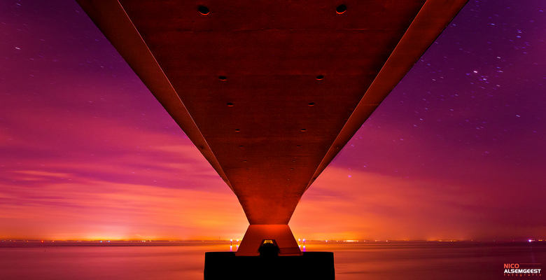 Zeelandbrug  - Onder de Zeelandbrug.<br /> <br /> www.nicoalsemgeest.com <br />