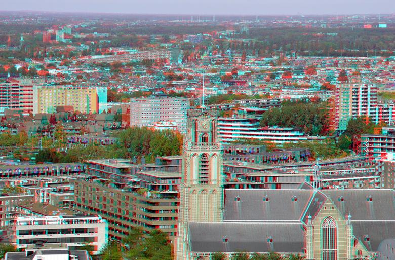 Laurenskerk vanaf Up:Town Rotterdam 3D - Laurenskerk vanaf Up:Town Rotterdam 3D<br /> cha-cha  Nikkor 18-200 D7000