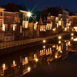 Nachtfotografie in spiegelbeeld