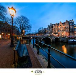 Een blauw uur in Amsterdam