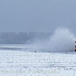 Sneeuwschuivers at work