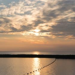 zonsondergang Brouwersdam Ouddorp