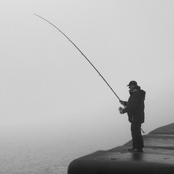 Visser op pier 6
