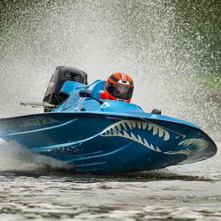 Powerboat race op de Bosbaan in Amsterdam