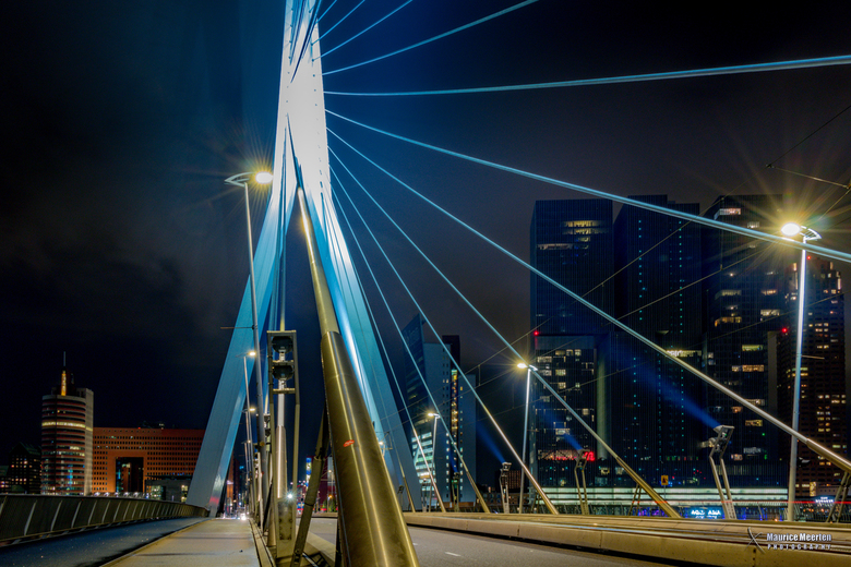 Rotterdam Erasmusbrug by night