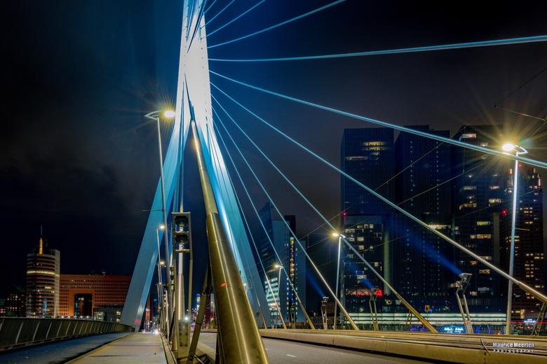 Rotterdam Erasmusbrug by night - Rotterdam Erasmusbrug by night