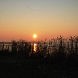 Ondergaande zon Volendam