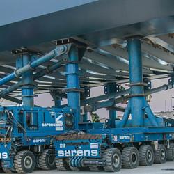Verplaatsing Spoorbrug A1 met SPMT's