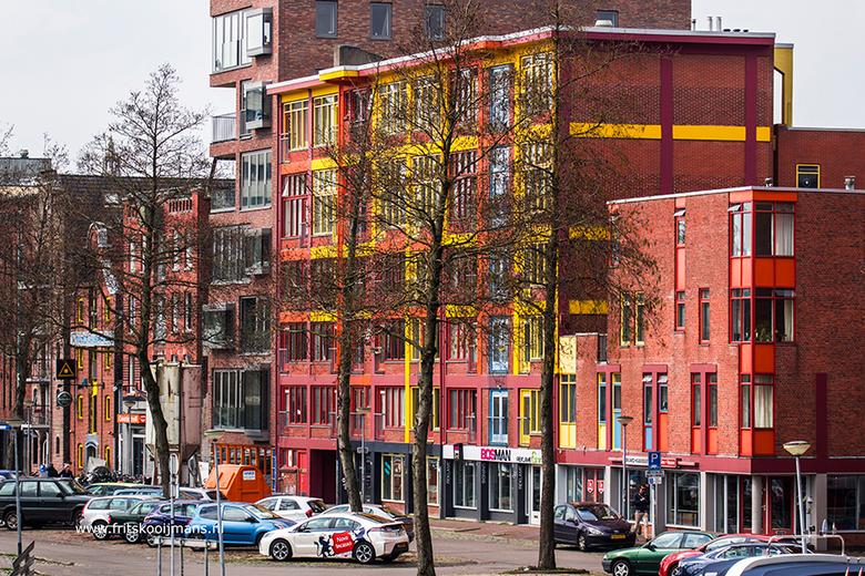 Huizen aan het  Verbindingskanaal in Groningen - 20160410 5415 Huizen aan het  Verbindingskanaal in Groningen