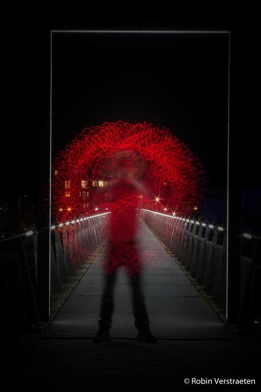 lichtpainting zelf portret