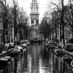 Amsterdam in wit en zwart