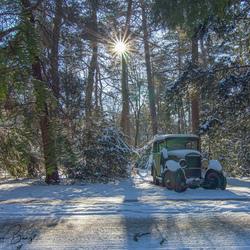 Sneeuw en zon....