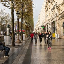 Parijs - Champs Élysées - Champs Élysées en Arc de Triomphe