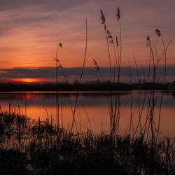 Zonsondergang Blauwestad