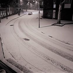Nachtelijke sneeuwval....