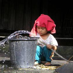 Hilltribe jongetje in Thailand