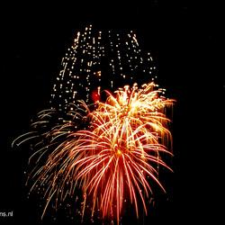 Vuurwerk bij nacht