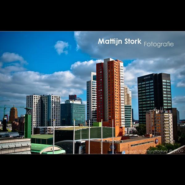 Rotterdam - Beursplein - Het Beursplein in Rotterdam vanuit het raam van de hotelkamer.