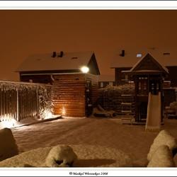 Sneeuw in de nacht