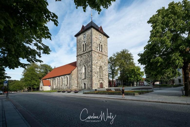 Trondheim - Vår Frue Kirke (the church of our lady).<br /> Deze stenen kerk is gebouwd in de Middeleeuwen en het oudste deel stamt uit de 12e eeuw.<b
