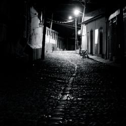Verlaten straat Trinidad