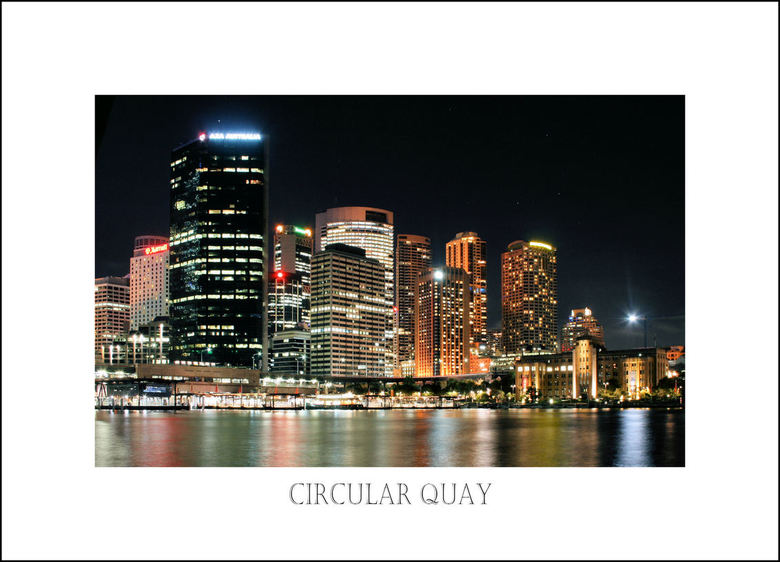 CIRCULAR QUAY - Nacht opname in Sydney