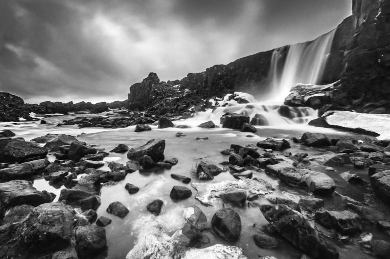 Oxarafoss BW, Iceland