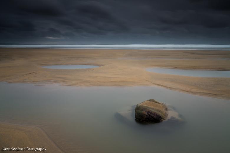 Sandy mouth beach Cornwall  - Net voor zonsondergang op het strand van Sandy Mouth, Cornwall Engeland.