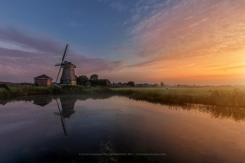 Sunrise at the Dutch countryside