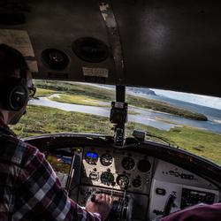 Landing at McNeil, Alaska
