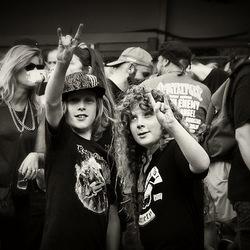 Twee jongen Metalheads!