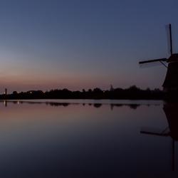 A beautiful night at Kinderdijk