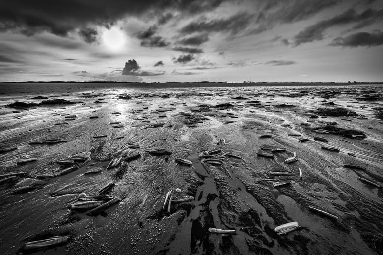 Low tide on Sunday - De natuur op de scheiding van land en water is altijd fascinerend, nooit het zelfde door het licht en het getij.