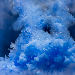 In de wolken...