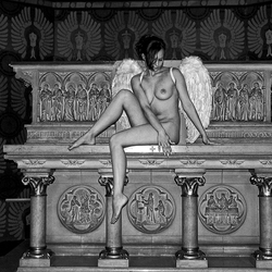 Angel in church