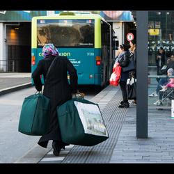 Snel nog even de bus halen