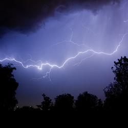 bliksem boven rotterdam