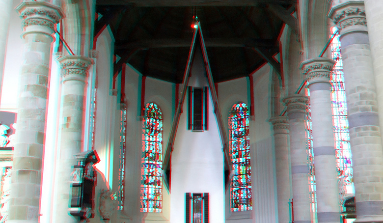 Narrow House by Erwin Wurm Nieuwe-kerk Delft 3D - Narrow House by Erwin Wurm Nieuwe-kerk Delft 3D<br /> anaglyph stereo red-cyan