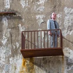 Roestig balkonnetje
