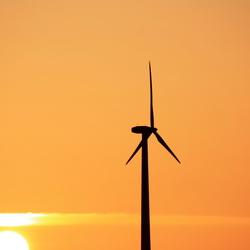 zonsondergang windmolen