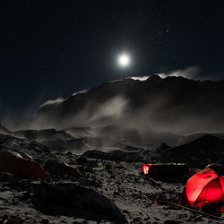 Aconcagua by night