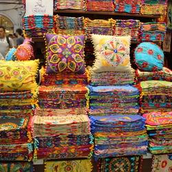 Kleur in de Grand Bazaar in Istanbul