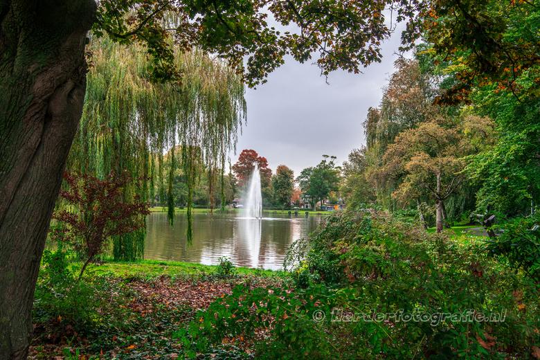 Doorkijkje in het Wilhelminapark - Doorkijkje in het Wilhelminapark te Meppel. De herfstkleuren geven sfeer aan de plaat.