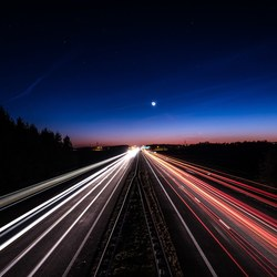 Blue hour Highway