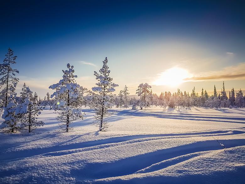 Lapland 2 Joop Lankhaar - Ondergaande zon Lapland